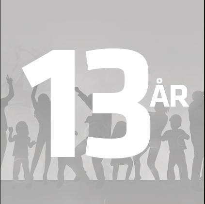 13 år